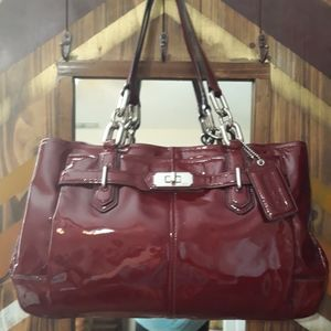Coach Authentic Patten Leather Tote
